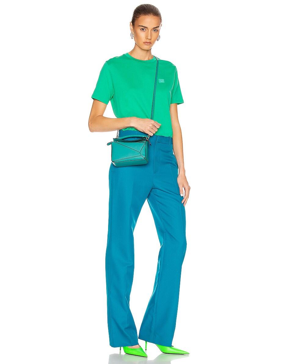 Image 2 of Loewe Puzzle Mini Bag in Emerald Green