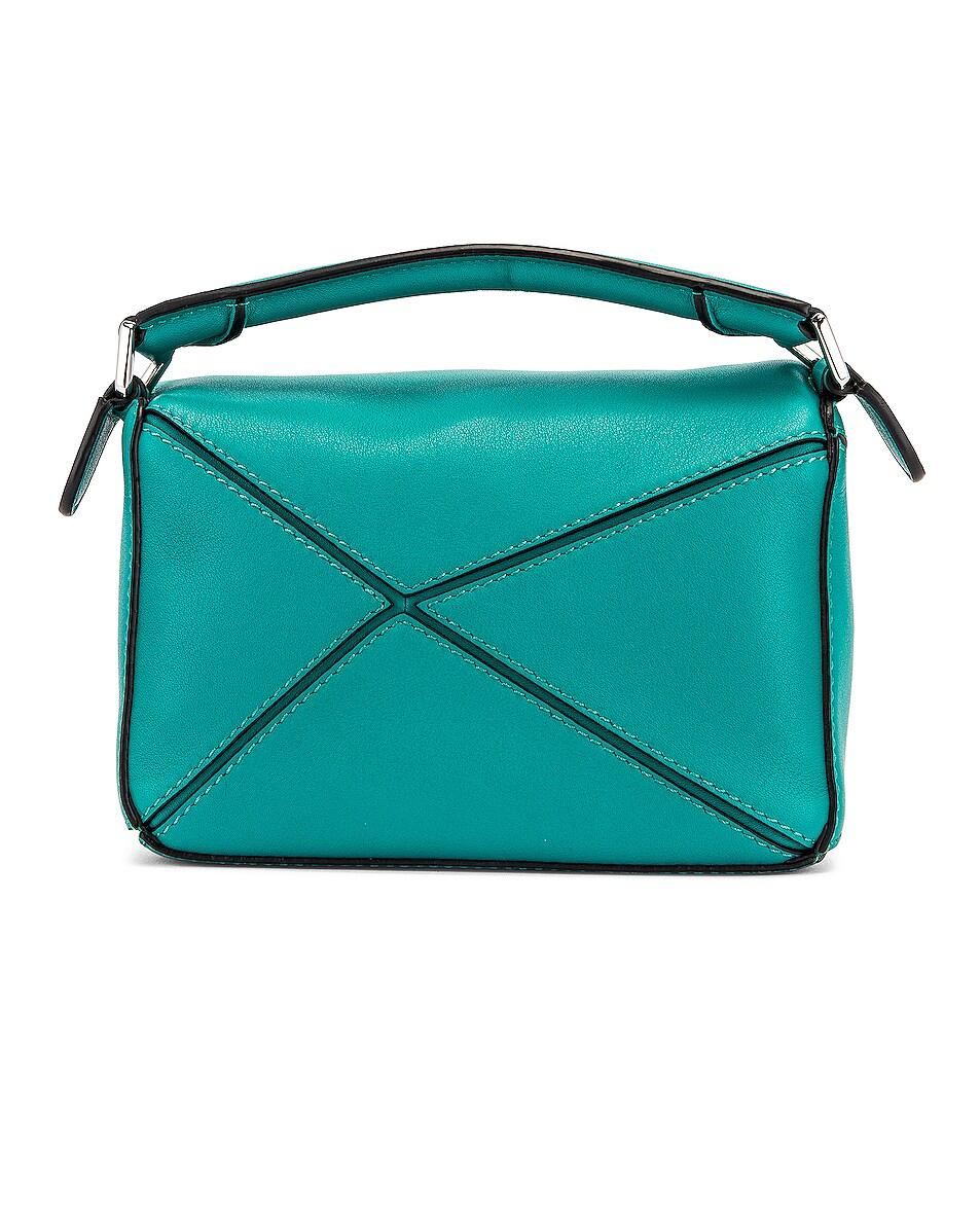 Image 3 of Loewe Puzzle Mini Bag in Emerald Green