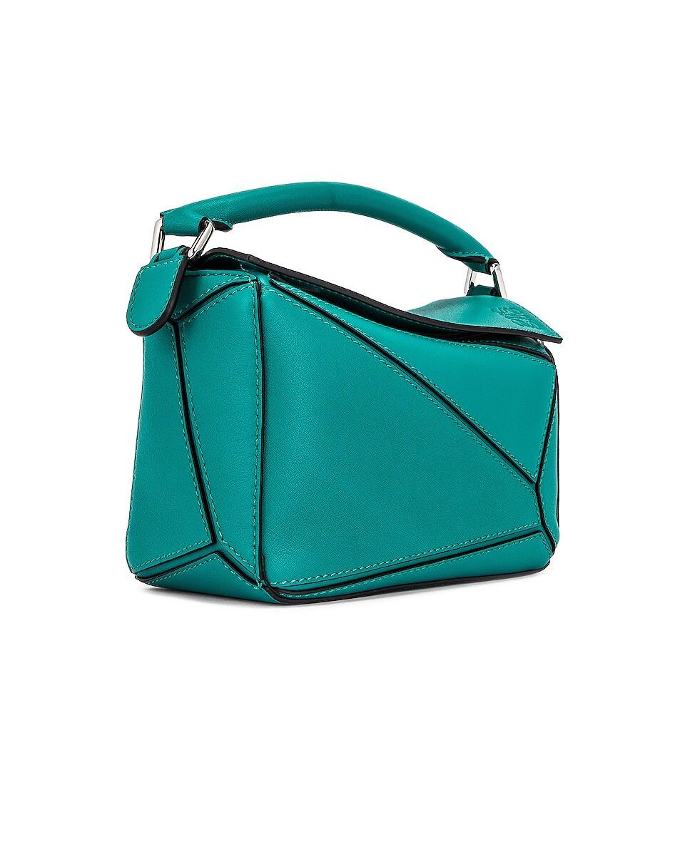 Image 4 of Loewe Puzzle Mini Bag in Emerald Green