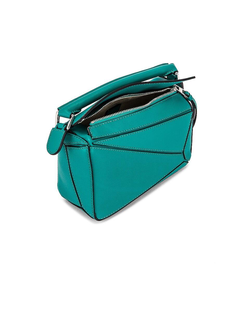 Image 5 of Loewe Puzzle Mini Bag in Emerald Green