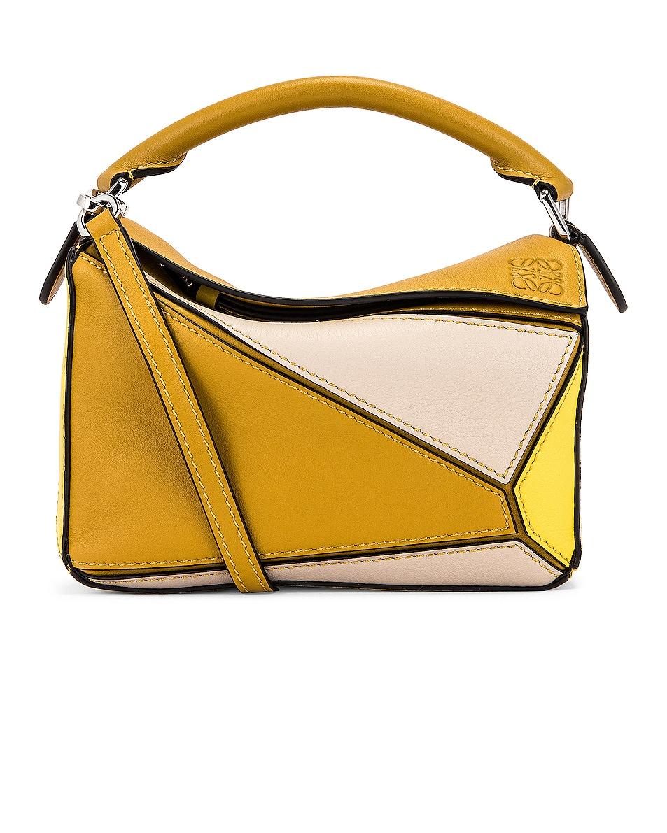 Image 1 of Loewe Puzzle Mini Bag in Ochre & Yellow