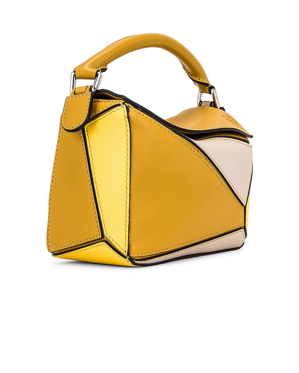 Image 4 of Loewe Puzzle Mini Bag in Ochre & Yellow