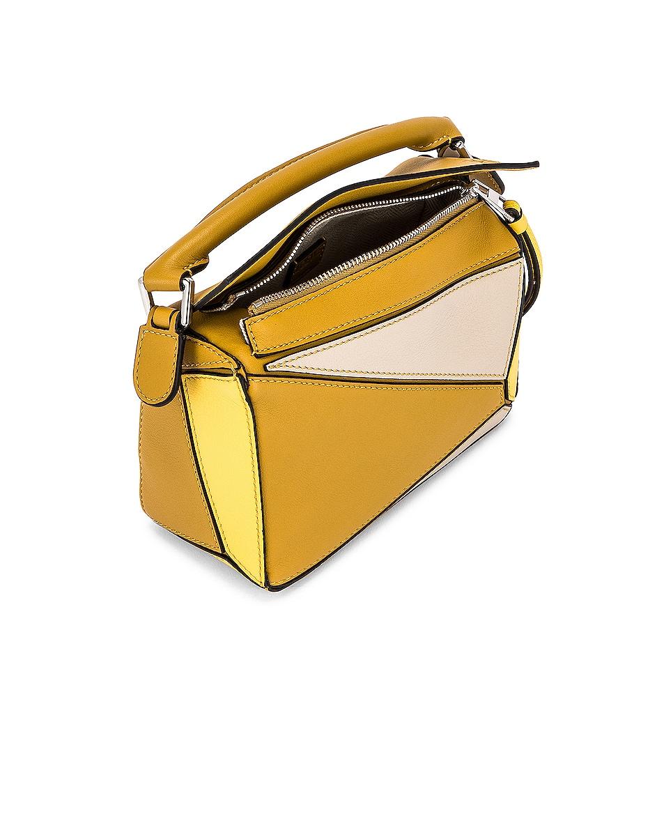 Image 5 of Loewe Puzzle Mini Bag in Ochre & Yellow