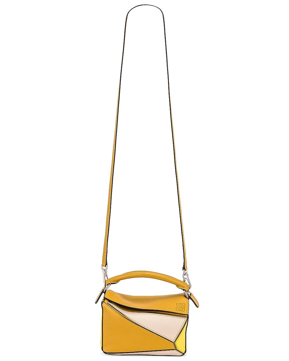 Image 6 of Loewe Puzzle Mini Bag in Ochre & Yellow