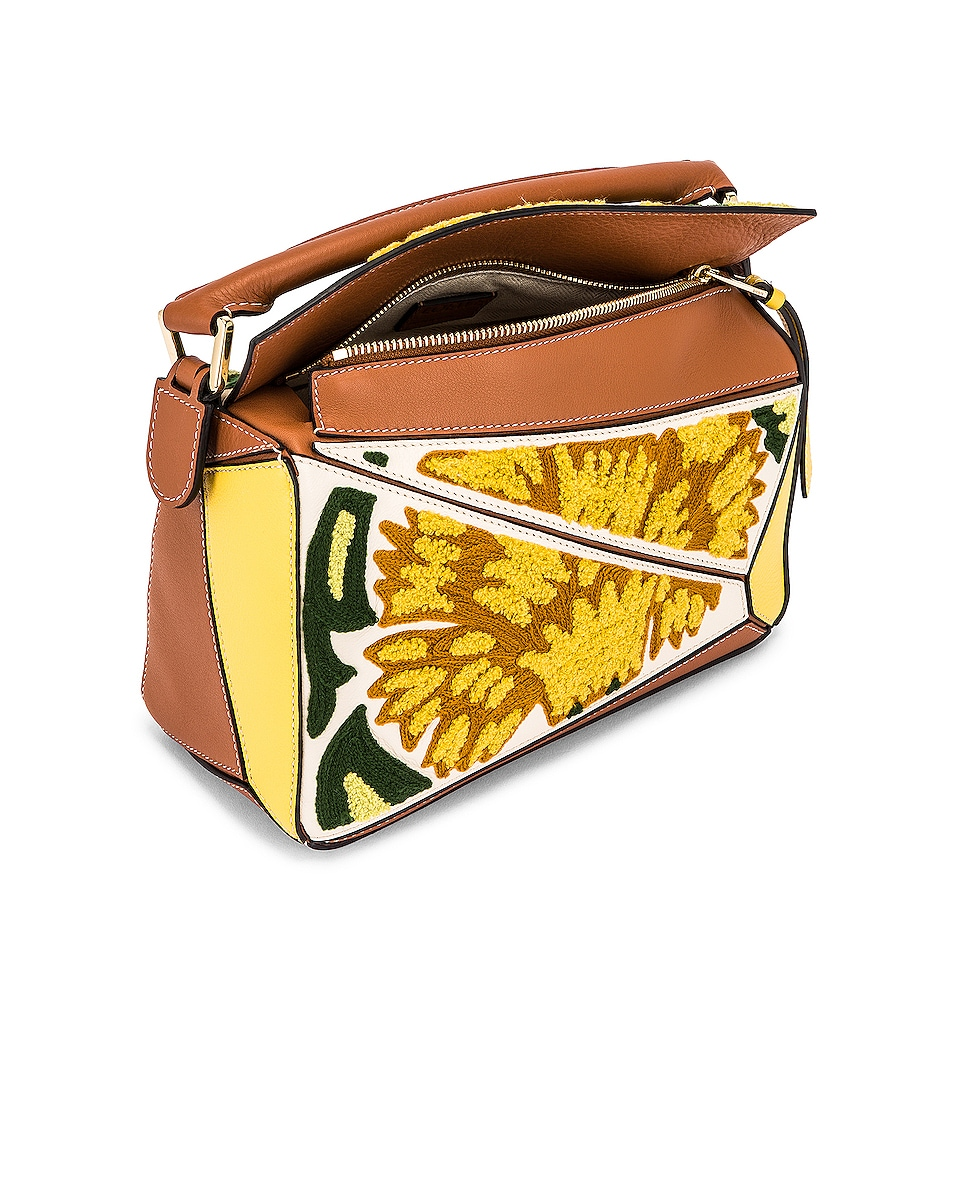 Image 5 of Loewe Puzzle Floral Small Bag in Yellow