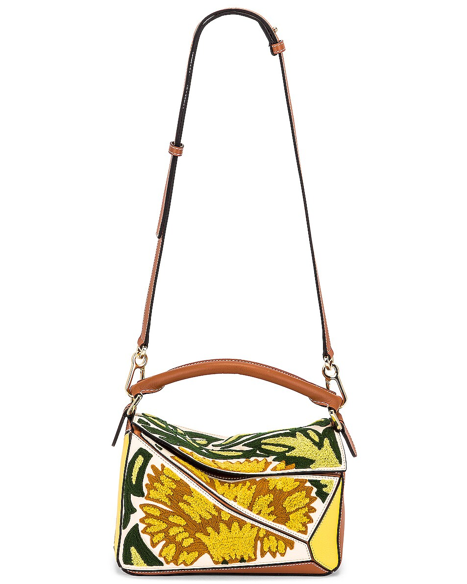 Image 6 of Loewe Puzzle Floral Small Bag in Yellow