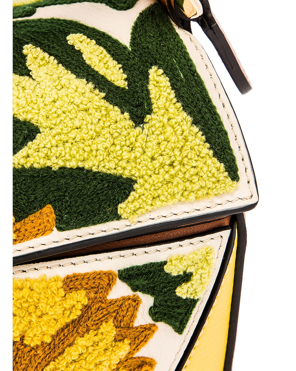 Image 8 of Loewe Puzzle Floral Small Bag in Yellow