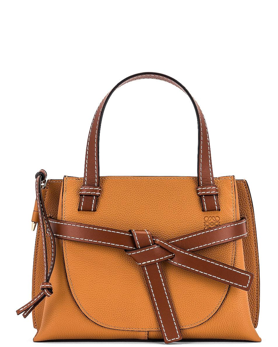 Image 1 of Loewe Gate Top Handle Mini Bag in Light Caramel