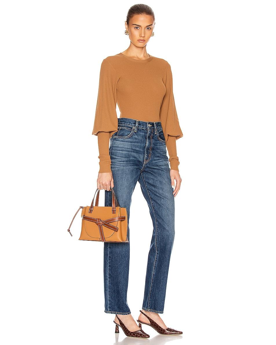 Image 2 of Loewe Gate Top Handle Mini Bag in Light Caramel