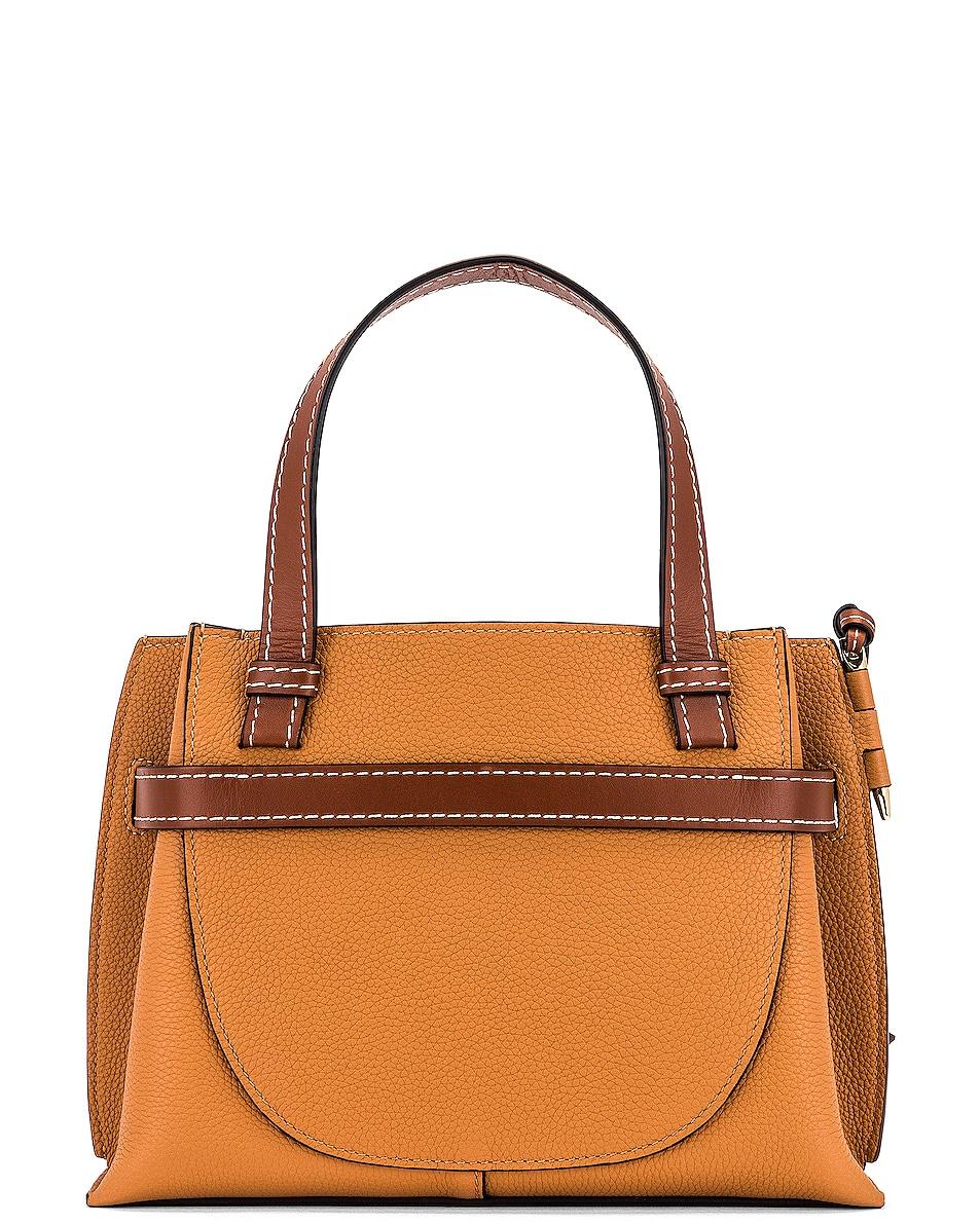 Image 3 of Loewe Gate Top Handle Mini Bag in Light Caramel