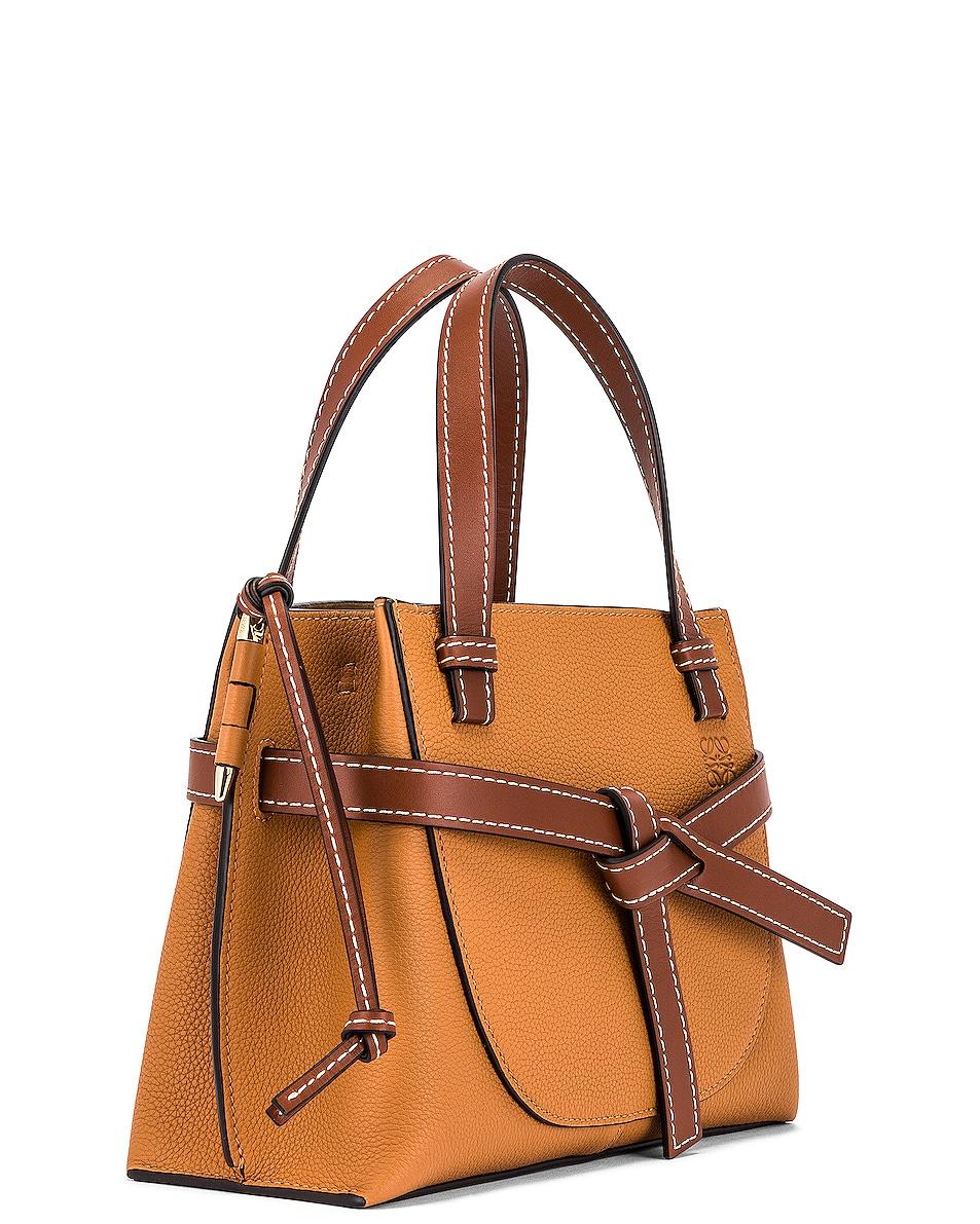 Image 4 of Loewe Gate Top Handle Mini Bag in Light Caramel
