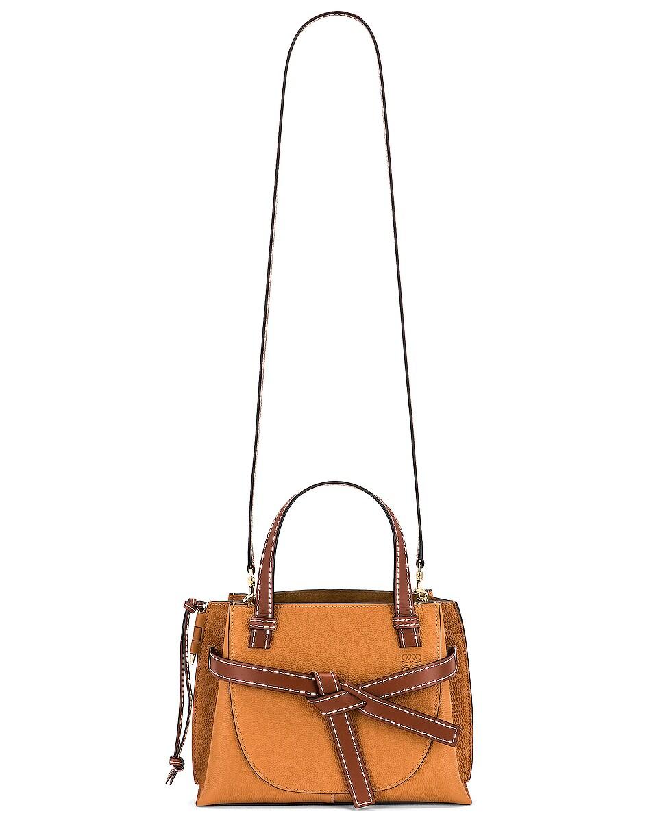 Image 6 of Loewe Gate Top Handle Mini Bag in Light Caramel