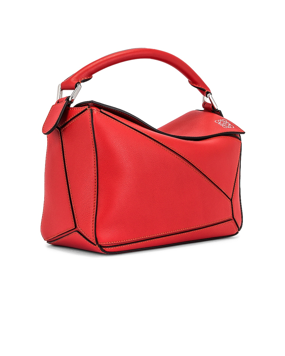 Image 4 of Loewe Puzzle Small Bag in Pomodoro
