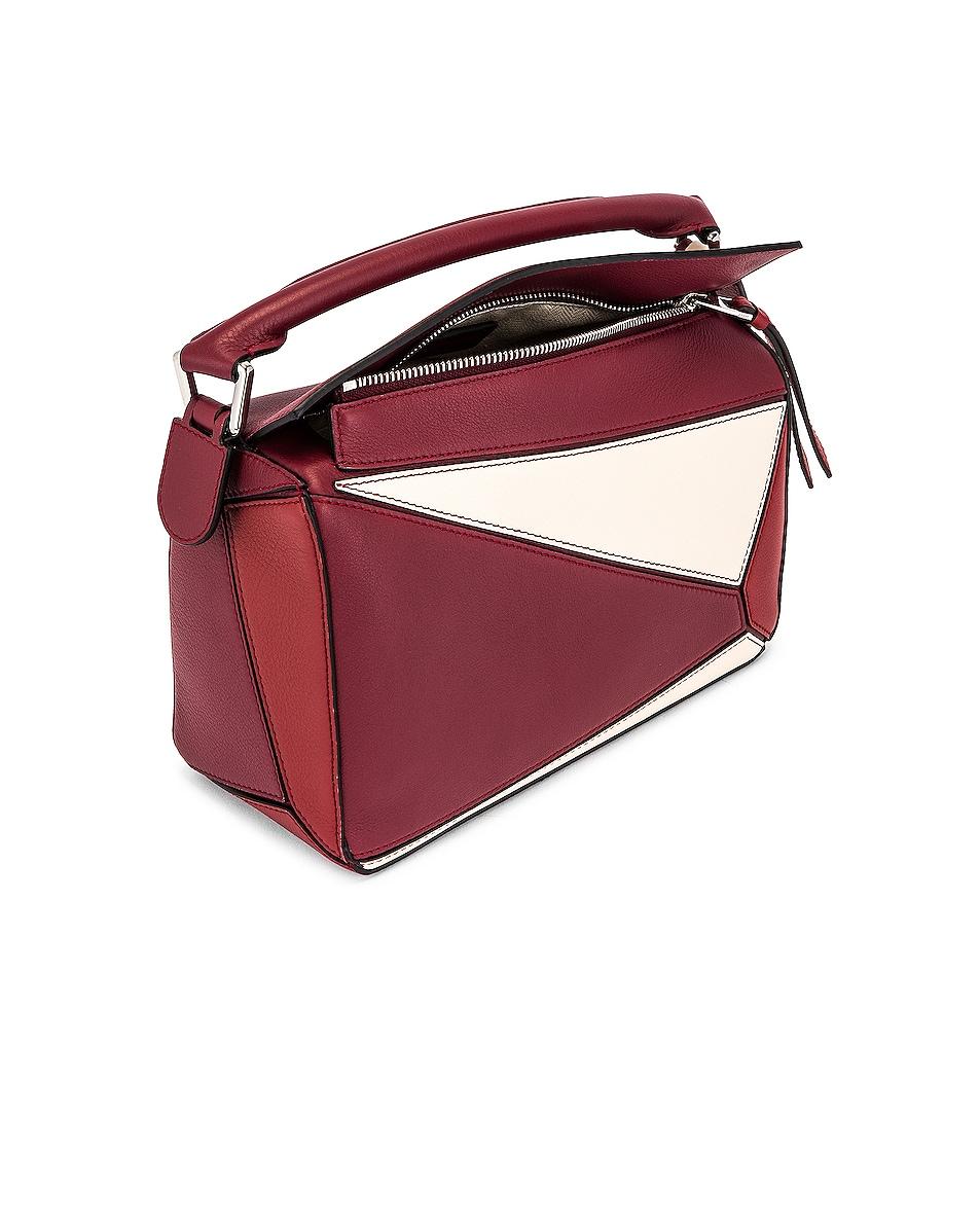 Image 5 of Loewe Puzzle Small Bag in Wine & Garnet