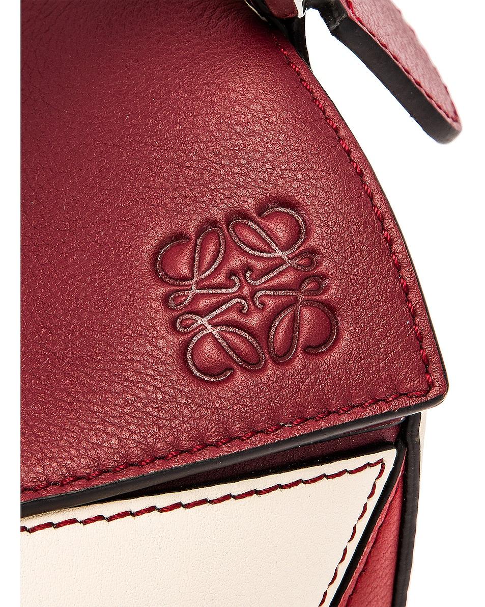 Image 8 of Loewe Puzzle Small Bag in Wine & Garnet