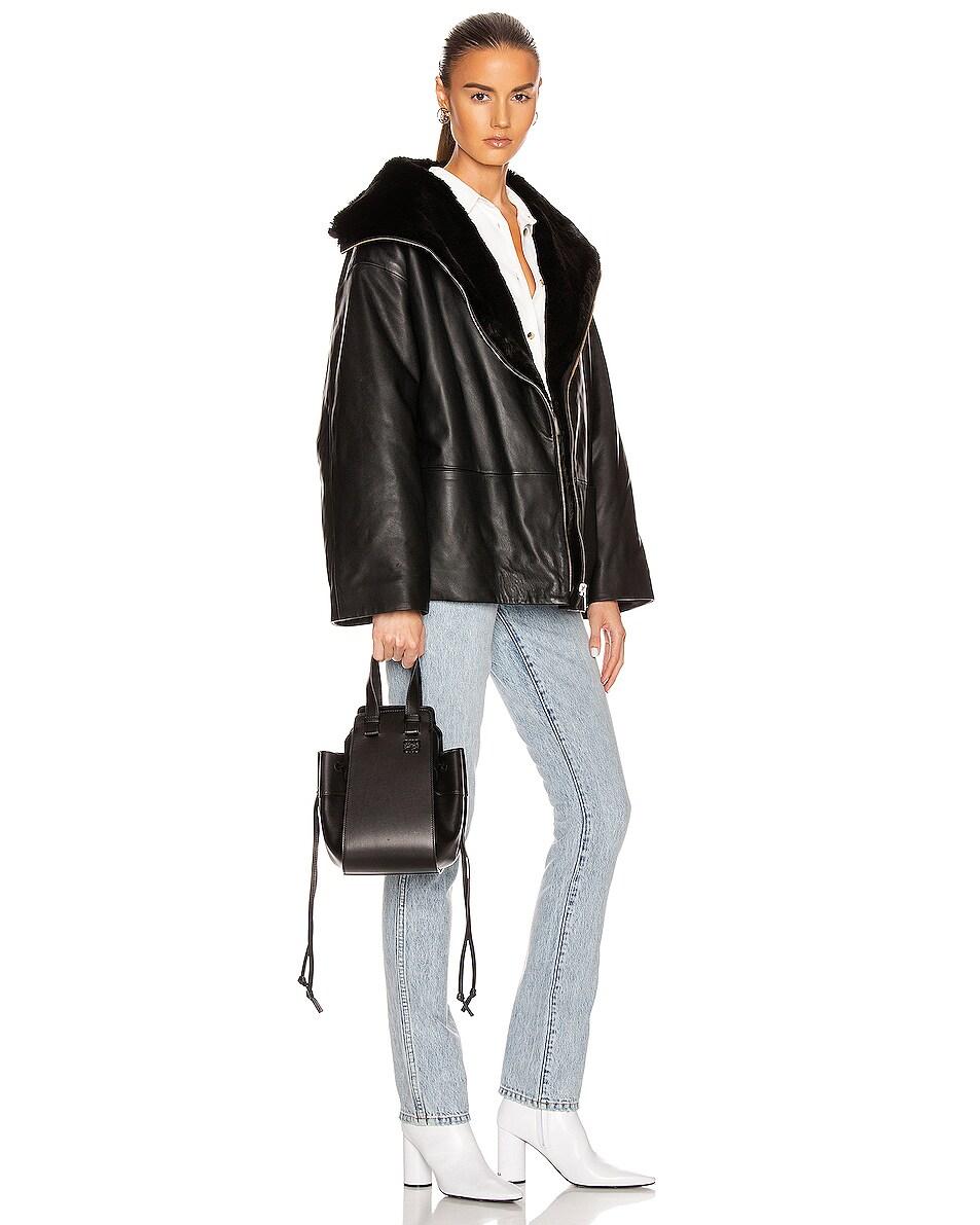 Image 2 of Loewe Hammock DW Small Bag in Black