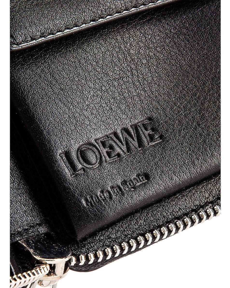 Image 5 of Loewe Puzzle Square Zip Wallet in Dark Lagoon & Black
