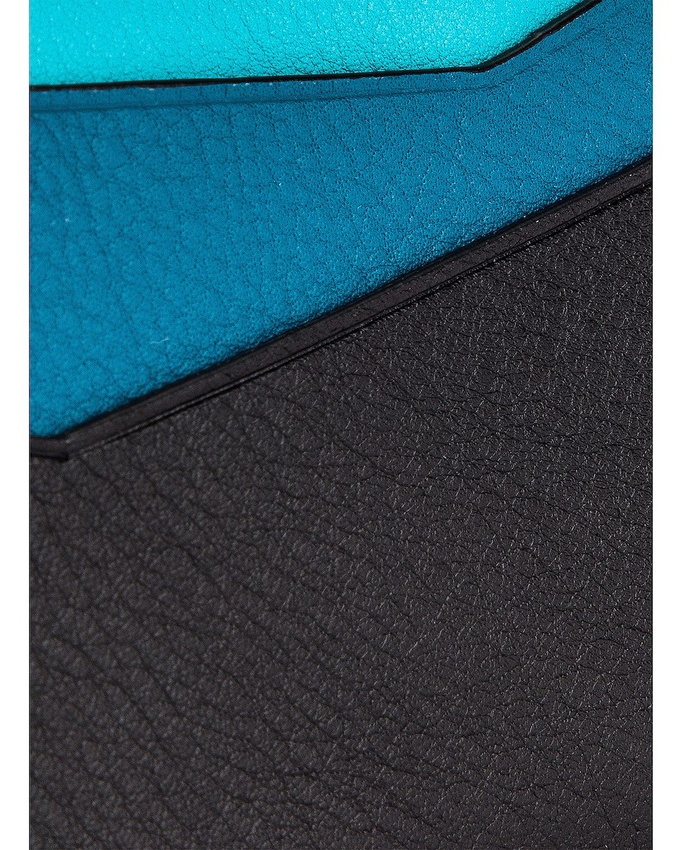 Image 6 of Loewe Puzzle Plain Cardholder in Dark Lagoon & Black