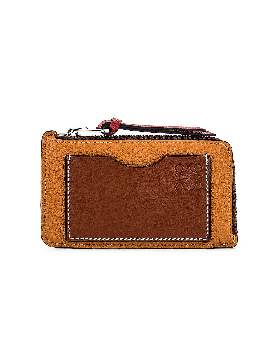 Image 1 of Loewe Large Coin Cardholder in Light Caramel & Pecan