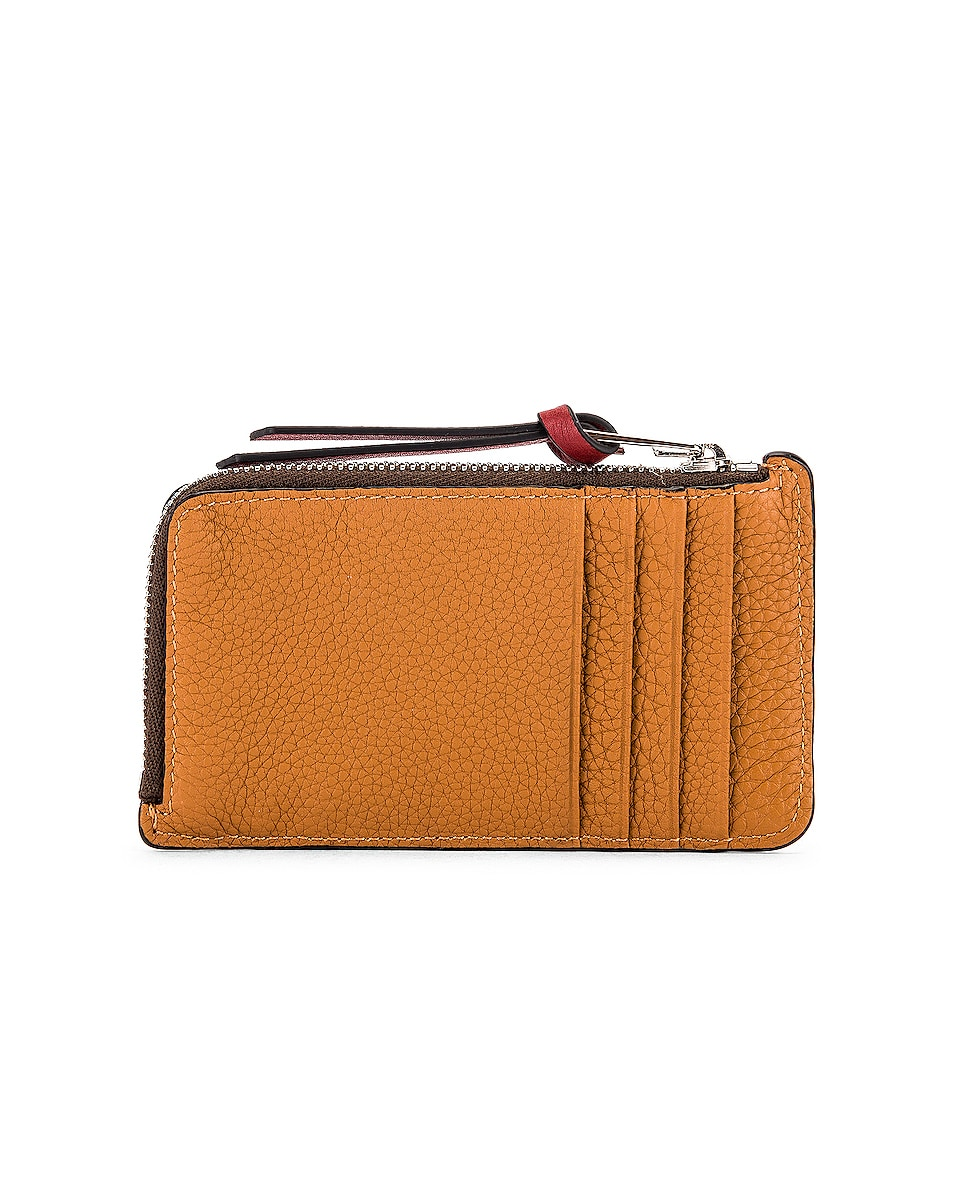Image 2 of Loewe Large Coin Cardholder in Light Caramel & Pecan