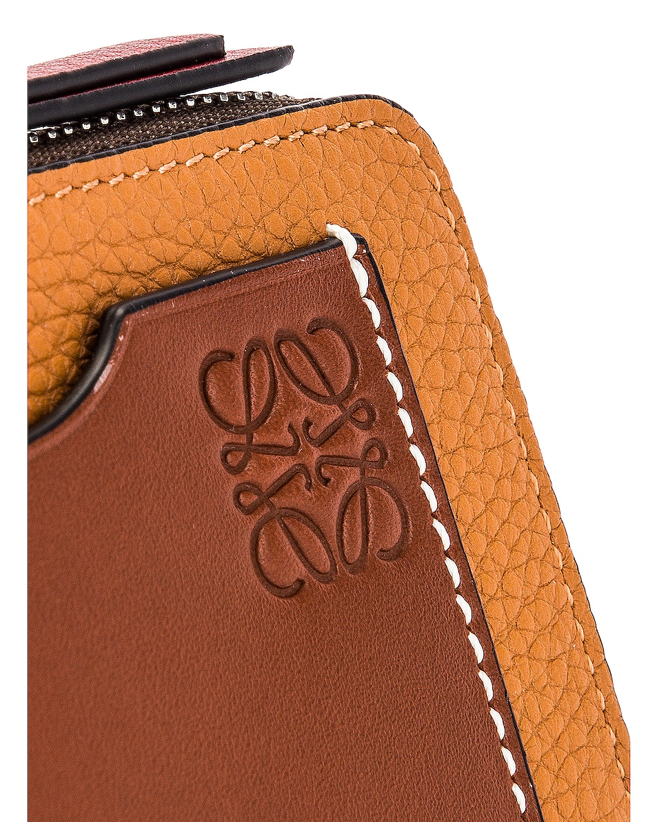 Image 5 of Loewe Large Coin Cardholder in Light Caramel & Pecan