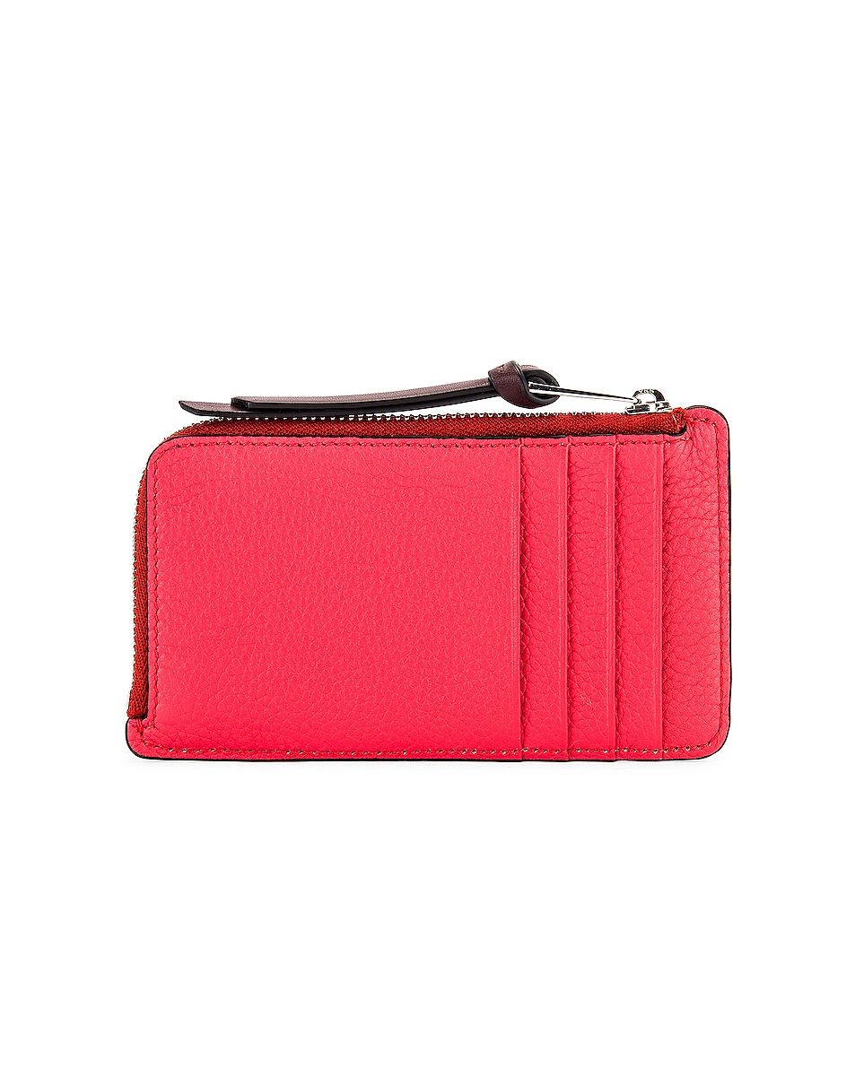 Image 2 of Loewe Large Coin Cardholder in Poppy Pink