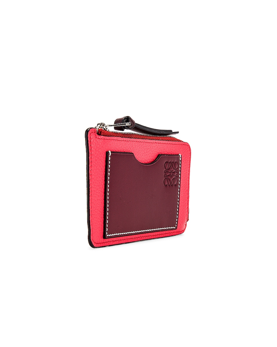 Image 3 of Loewe Large Coin Cardholder in Poppy Pink