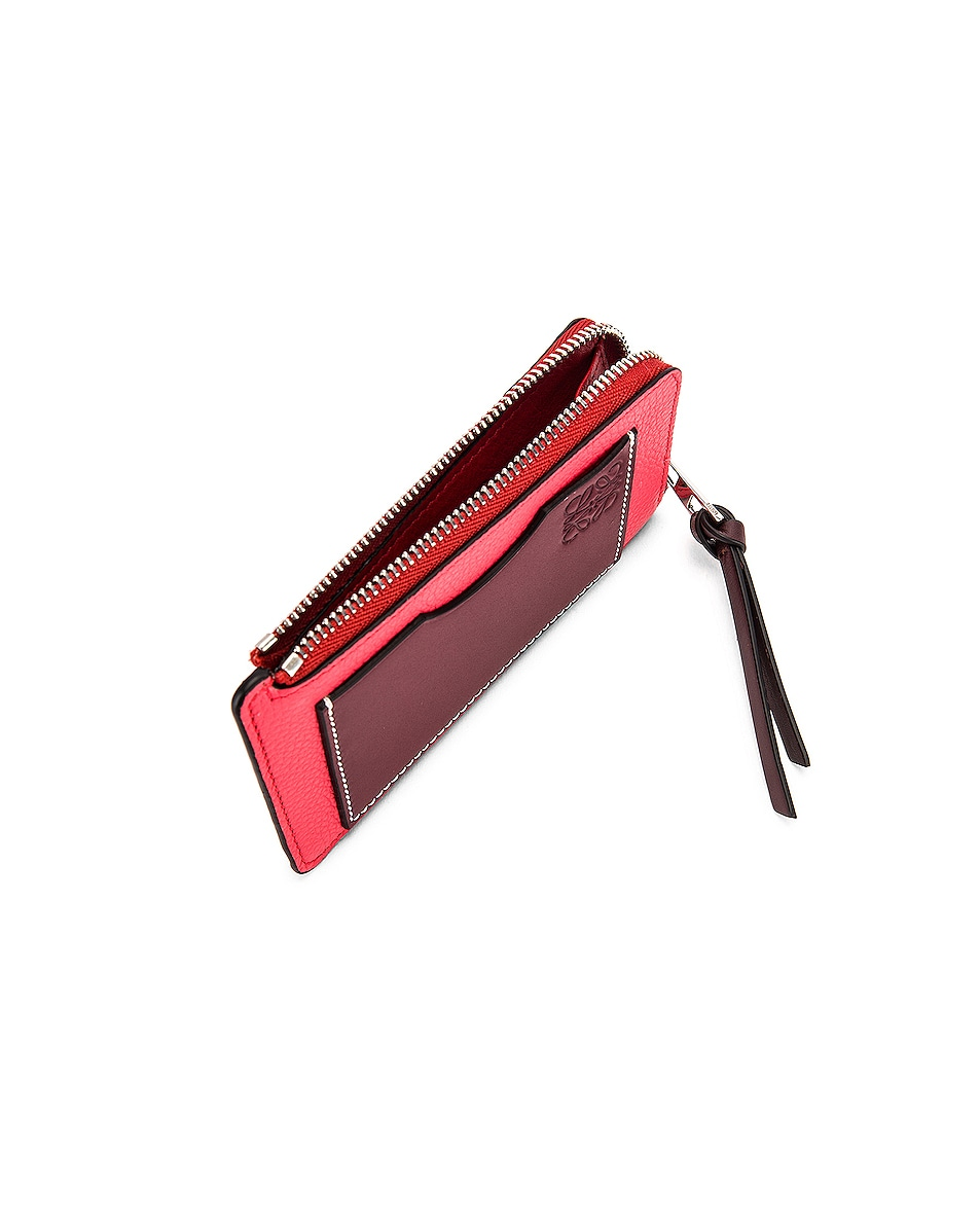 Image 4 of Loewe Large Coin Cardholder in Poppy Pink