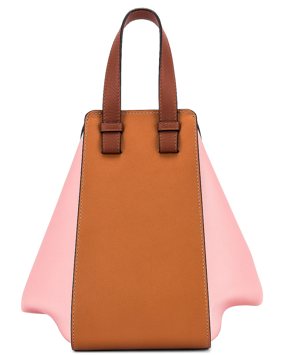 Image 3 of Loewe Hammock Small Bag in Tan & Medium Pink