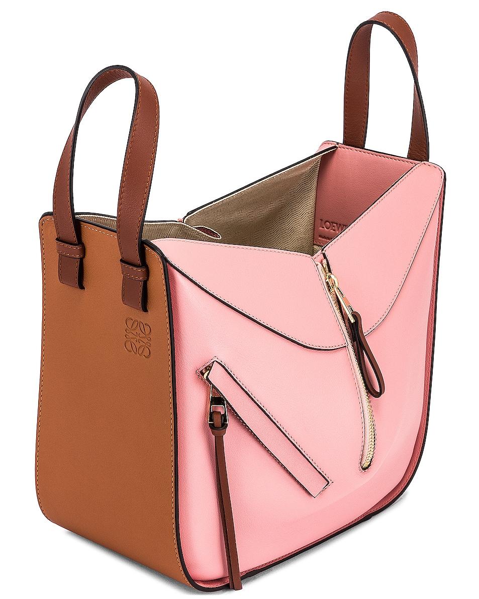 Image 5 of Loewe Hammock Small Bag in Tan & Medium Pink