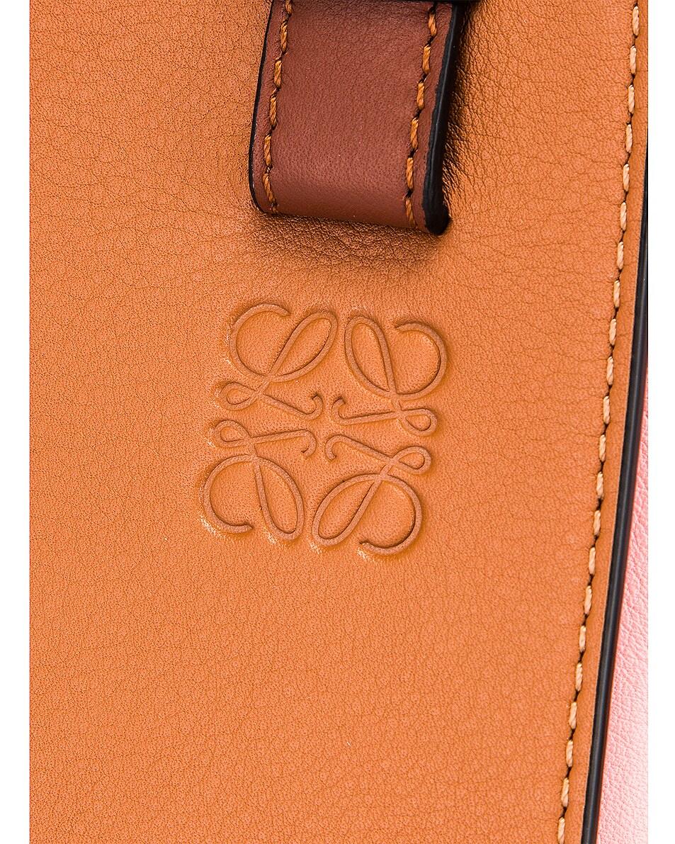 Image 8 of Loewe Hammock Small Bag in Tan & Medium Pink