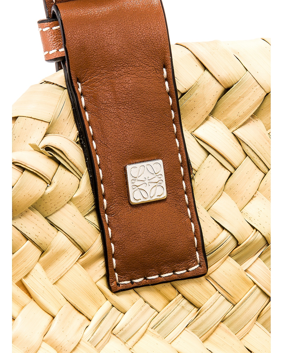 Image 7 of Loewe Large Basket Bag in Natural & Tan