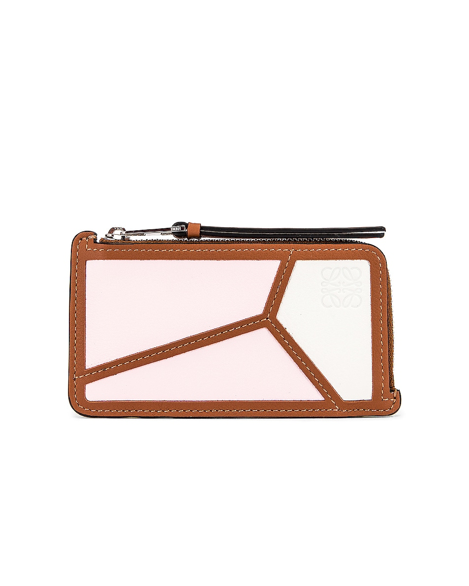 Image 1 of Loewe Puzzle Coin Cardholder in Icy Pink & Soft White