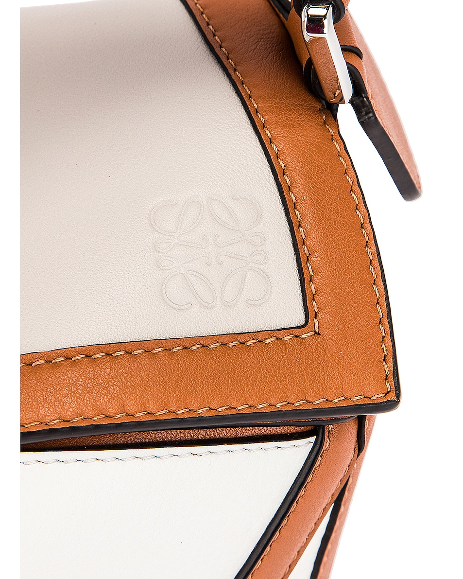 Image 7 of Loewe Puzzle Graphic Small Bag in Ghost & Soft White