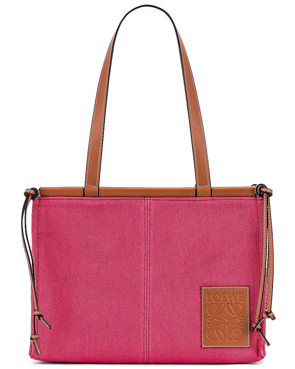 Image 1 of Loewe Cushion Tote Small Bag in Raspberry