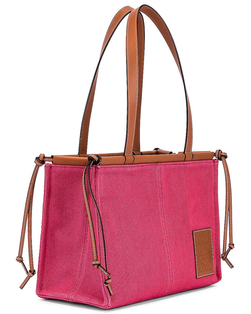 Image 4 of Loewe Cushion Tote Small Bag in Raspberry