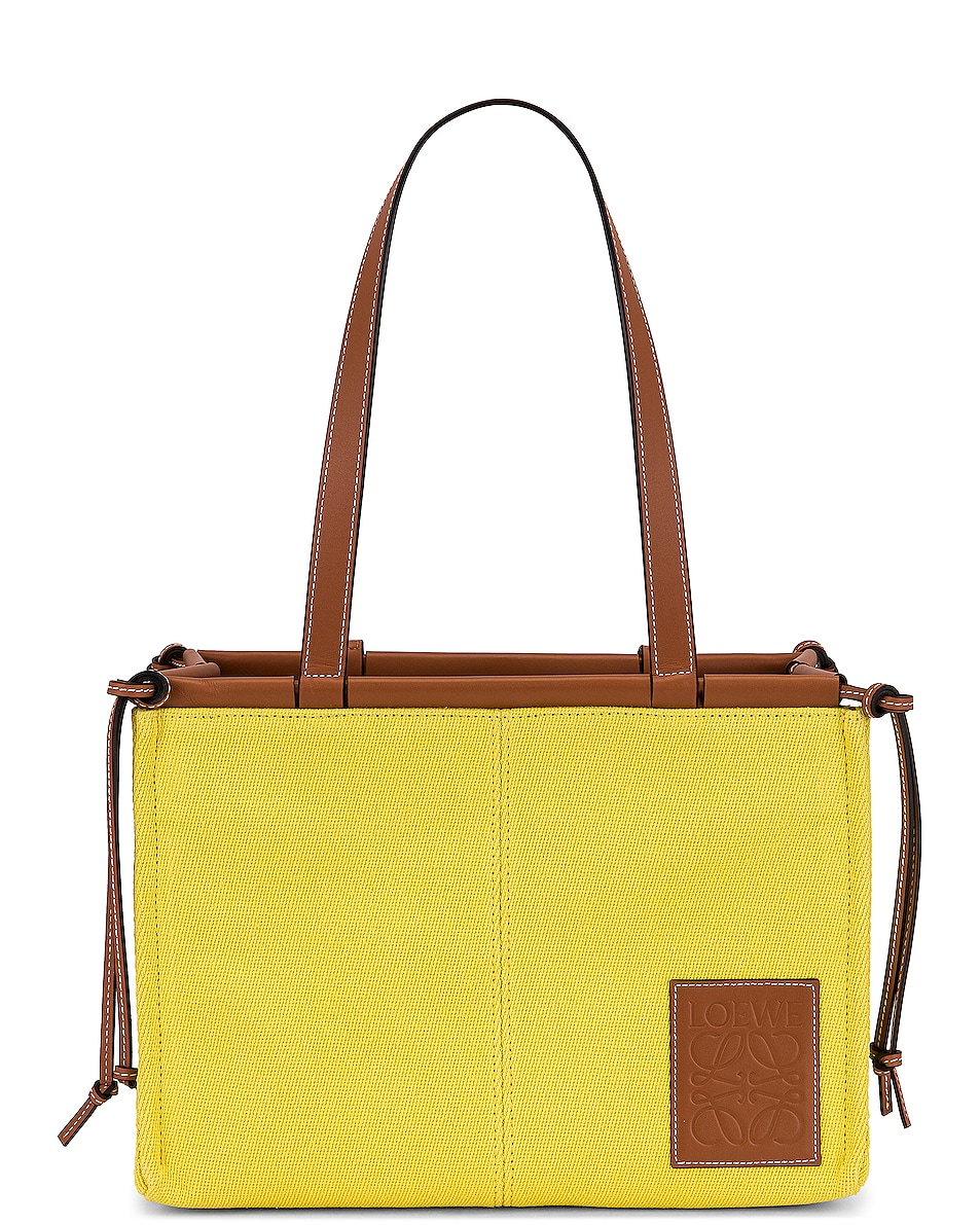 Image 1 of Loewe Cushion Tote Small Bag in Yellow
