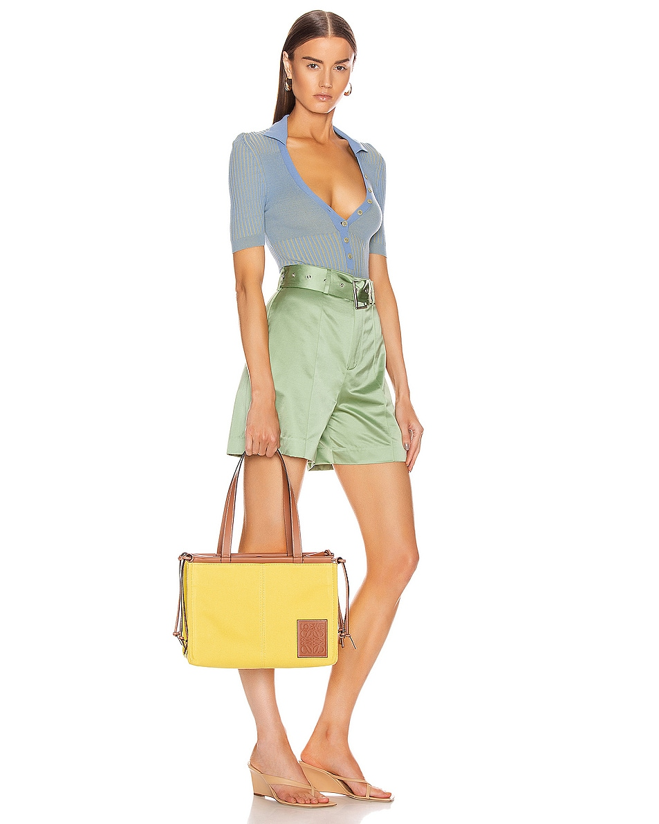 Image 2 of Loewe Cushion Tote Small Bag in Yellow