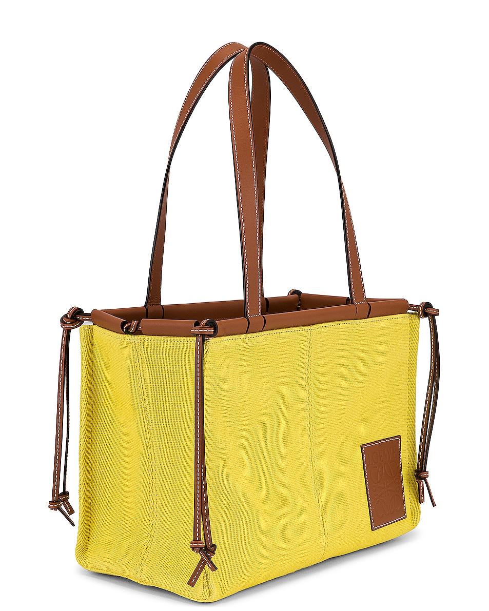 Image 4 of Loewe Cushion Tote Small Bag in Yellow