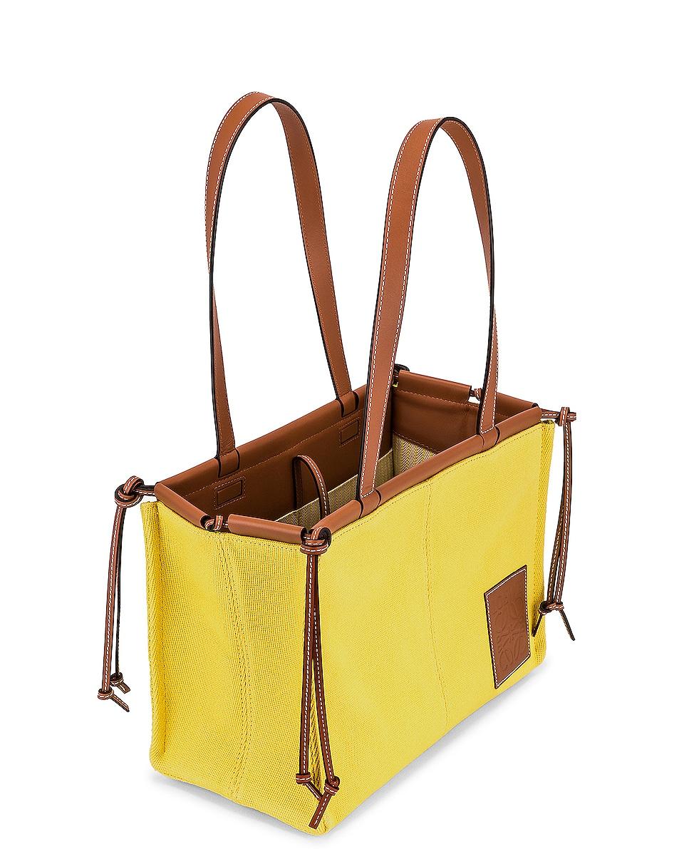 Image 5 of Loewe Cushion Tote Small Bag in Yellow