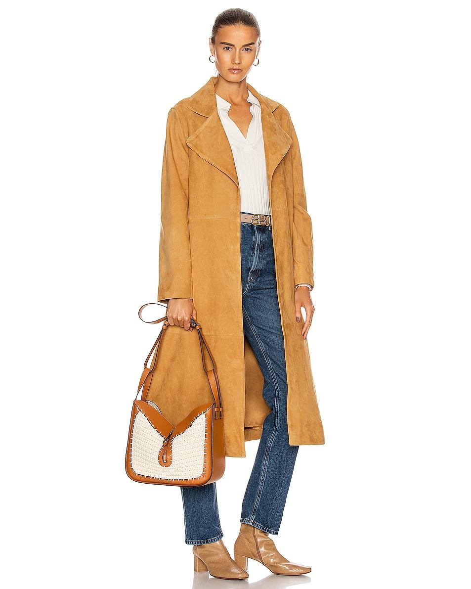 Image 2 of Loewe Hammock Knit Small Bag in Tan & Natural