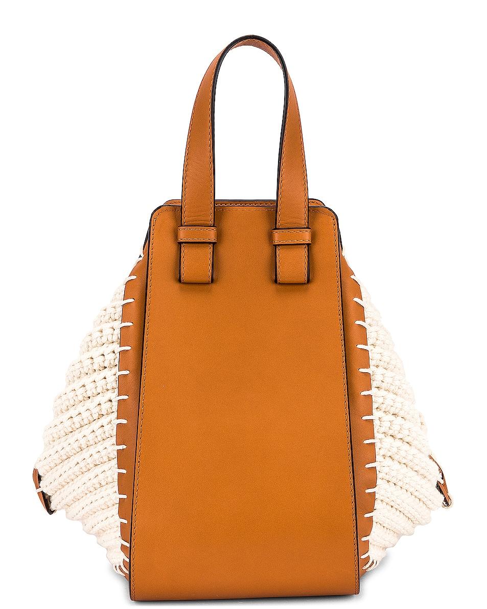 Image 3 of Loewe Hammock Knit Small Bag in Tan & Natural