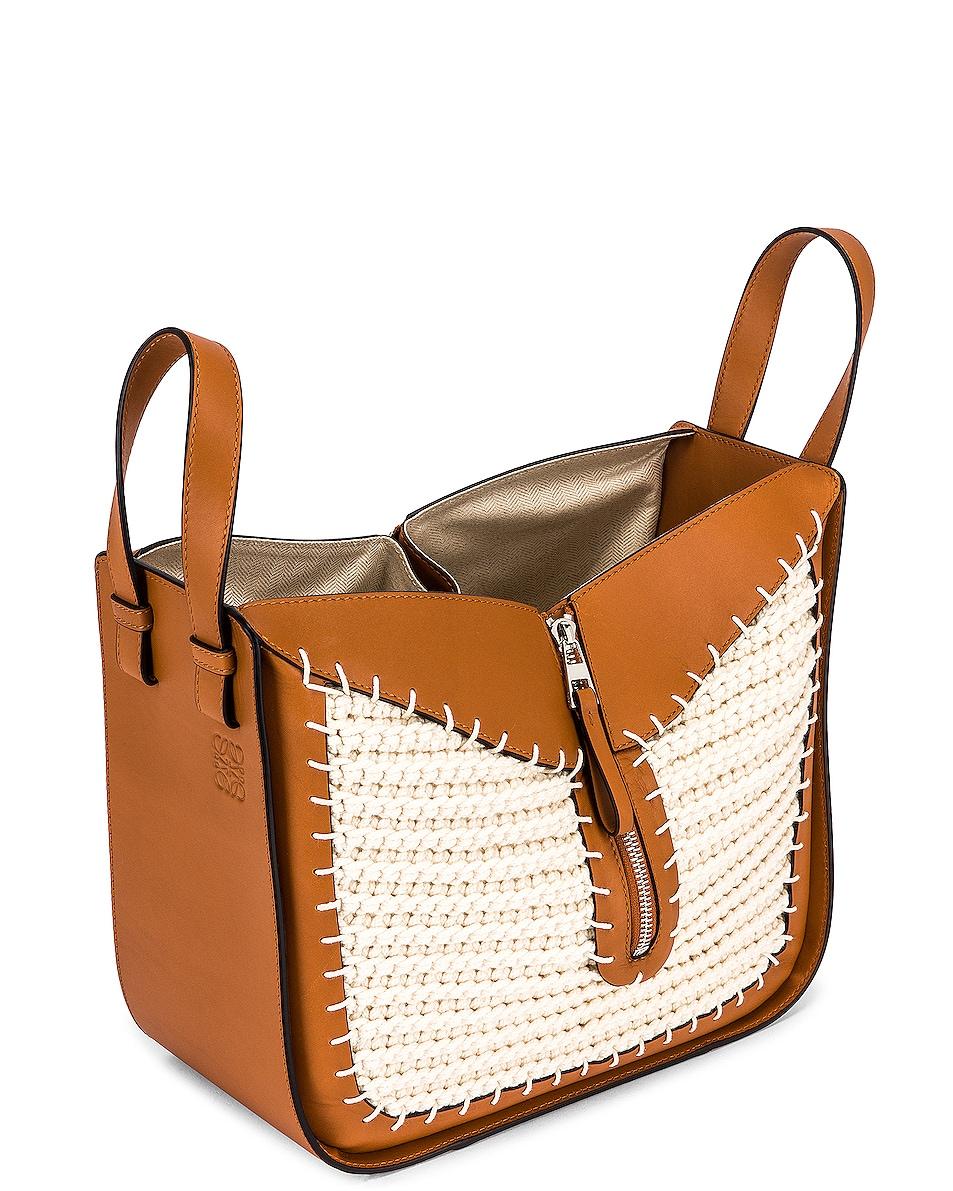 Image 5 of Loewe Hammock Knit Small Bag in Tan & Natural