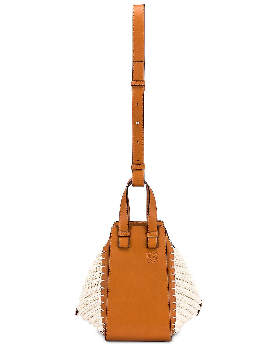 Image 6 of Loewe Hammock Knit Small Bag in Tan & Natural