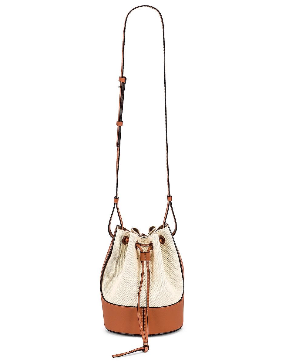 Image 1 of Loewe Balloon Small Bag in Ecru & Tan