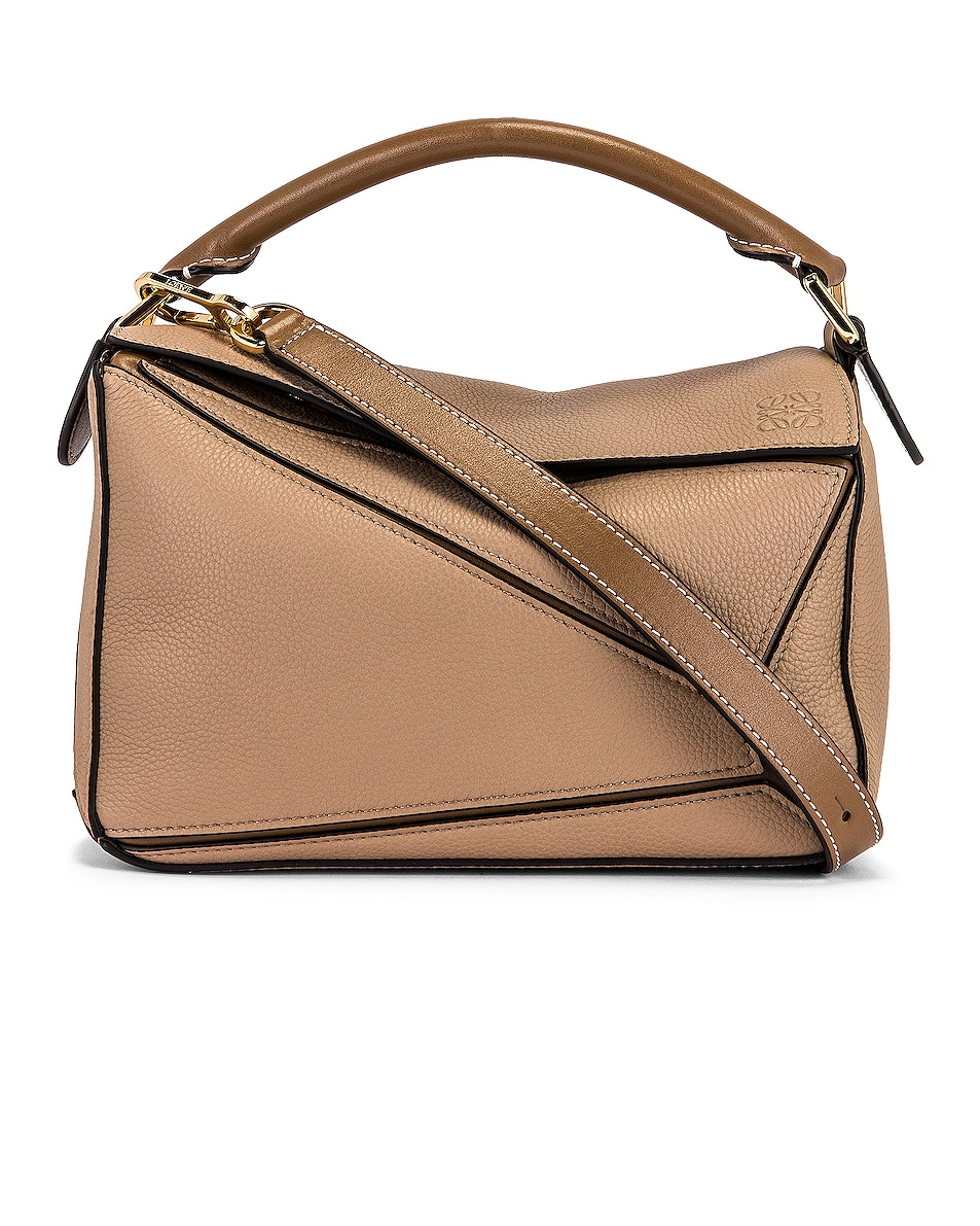 Image 1 of Loewe Puzzle Small Bag in Sand & Mink Color