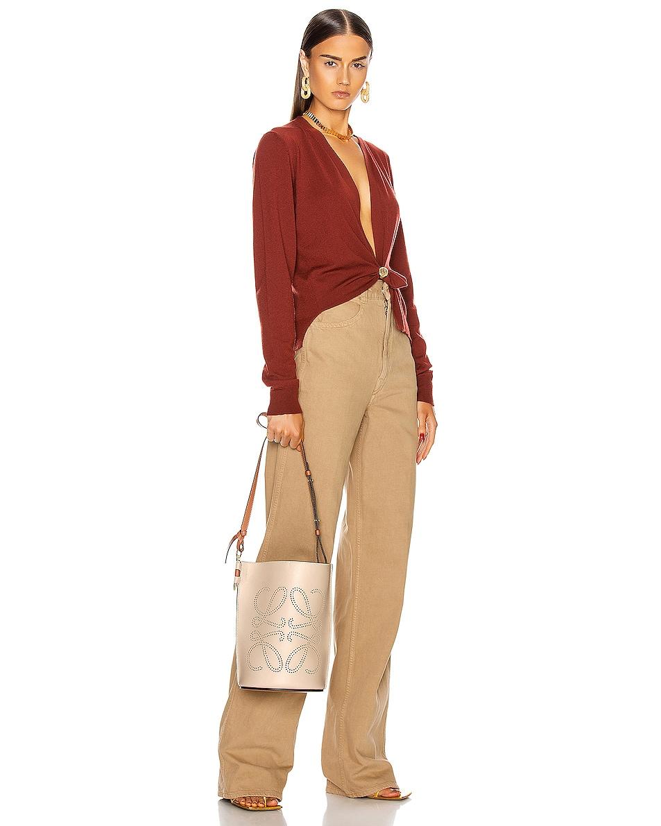 Image 2 of Loewe Gate Bucket Anagram Bag in Light Oat & Tan