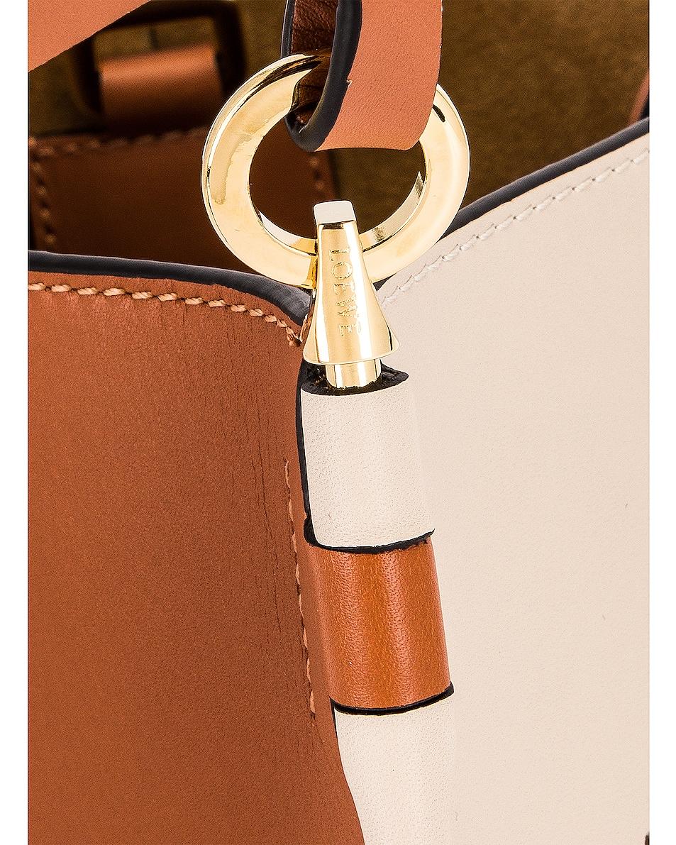 Image 7 of Loewe Gate Bucket Anagram Bag in Light Oat & Tan