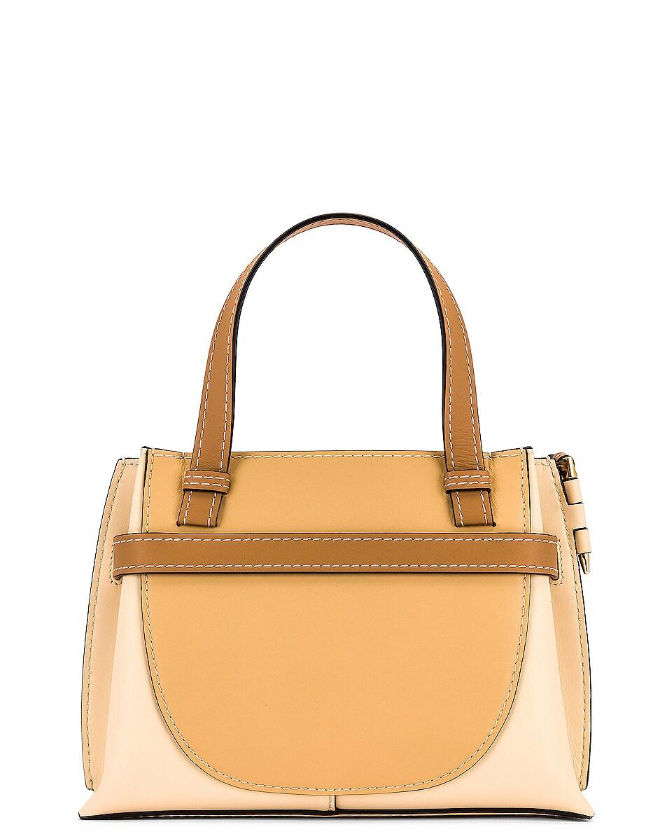 Image 3 of Loewe Gate Top Handle Mini Bag in Dune & Vanilla