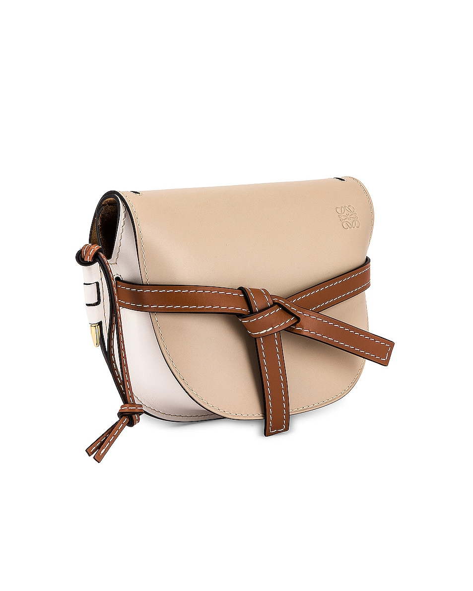 Image 4 of Loewe Gate Small Bag in Light Oat & Soft White